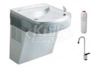 Elkay LZS8SF Stainless Steel Filtered Drinking Fountain with Glass Filler