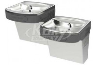 Halsey Taylor HTVZDBLSS-WF NON-REFRIGERATED Stainless Steel Filtered Dual Drinking Fountain