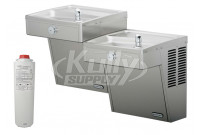Elkay LVRCTLFR8SC Filtered Vandal-Resistant Dual Drinking Fountain with Frost-Resistance