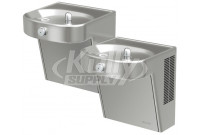 Elkay VRCHDTLDDSC Heavy Duty Vandal-Resistant NON-REFRIGERATED Dual Drinking Fountain