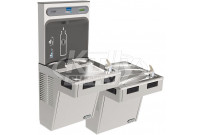 Elkay EZH2O LMABFTL8WSSK Filtered Stainless Steel Dual Drinking Fountain with Bottle Filler