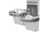 Elkay EZH2O LZSTLG8WSSK GreenSpec Filtered Stainless Steel Dual Drinking Fountain with Bottle Filler