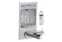 Elkay EZH2O LZWS-EDFPBM114K NON-REFRIGERATED Bottle Filling Station with Filtered Stainless Steel Integral SwirlFlo Fountain