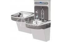 Elkay EZH2O EZSTL8WSVRSK Stainless Steel Dual Drinking Fountain with Bottle Filler and Vandal-Resistant Bubbler