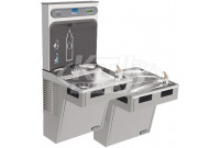 Elkay EZH2O EMABFTL8WSLK Dual Drinking Fountain with Bottle Filler