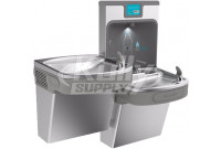 Elkay Enhanced EZH2O LZSTL8WSSP Filtered Stainless-Steel Dual-Station Drinking Fountain with Bottle-Filling Station