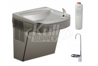 Elkay LZS8LF Stainless Steel Filtered Drinking Fountain with Glass Filler