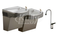 Elkay EZSTL8LFC Dual Drinking Fountain with Glass Filler