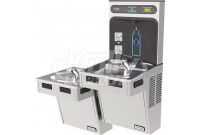 Halsey Taylor HydroBoost HTHB-HAC8BLRSS-NF Stainless Steel Dual Drinking Fountain with Bottle Filler