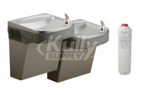 Elkay LZSTL8LC Filtered Dual Drinking Fountain