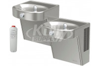 Elkay LVRCHDTLDDSC Filtered NON-REFRIGERATED Heavy Duty Vandal-Resistant Dual Drinking Fountain