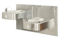 Haws 1117L Barrier-Free Bi-Level Drinking Fountain