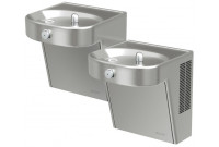 Elkay VRCHDTLDDSC Heavy Duty Bi-Level Drinking Fountain