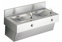 Elkay EDF210C Stainless Steel NON-REFRIGERATED Two-Station Drinking Fountain