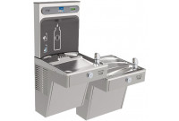 Elkay EZH2O VRCGRNTL8WSK GreenSpec Vandal-Resistant Dual Drinking Fountain with Bottle Filler