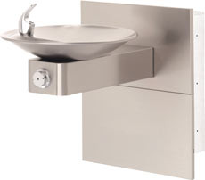 Haws 1001MS Swirl Bowl NON-REFRIGERATED Drinking Fountain