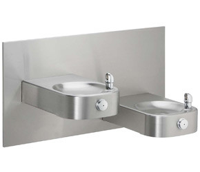 Elkay EHWM17C NON-REFRIGERATED Heavy Duty Vandal-Resistant In-Wall Dual Drinking Fountain