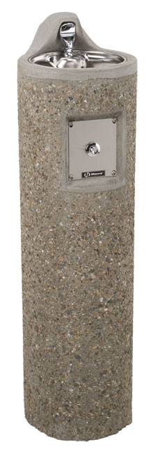 Haws 3060FR Stone Aggregate Freeze-Resistant Outdoor Drinking Fountain