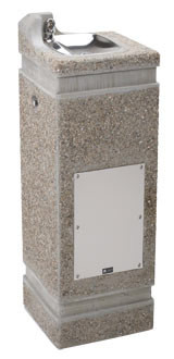 Haws 3121FR Stone Aggregate Freeze-Resistant Outdoor Drinking Fountain