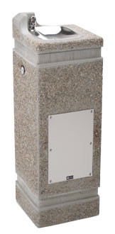 Haws 3121 Stone Aggregate Outdoor Drinking Fountain
