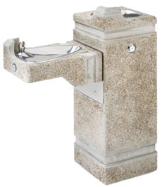 Haws 3150 Stone Aggregate Outdoor Drinking Fountain
