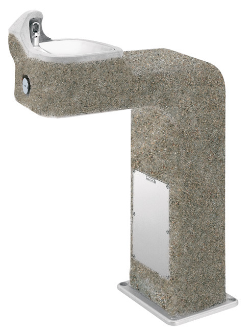 Haws 3177 Stone Aggregate Outdoor Drinking Fountain