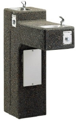 Halsey Taylor 4595 Stone Aggregate Two Station Outdoor Drinking Fountain