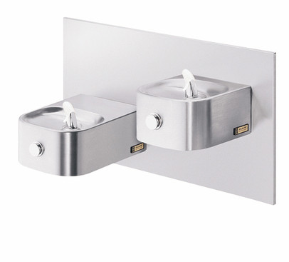 Elkay EDFP217FPRAK Freeze Resistant, Non-Refrigerated In-Wall Dual Drinking Fountain with Vandal-Resistant Bubbler