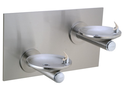Elkay EDFPBMV117RAC NON-REFRIGERATED In-Wall Dual Drinking Fountain with Vandal-Resistant Bubbler