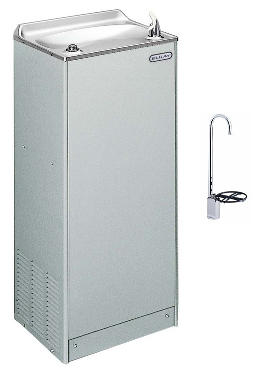 Elkay EFA4LF1Z Deluxe Floor Mount Water Cooler w/ LK1114 Glass Filler