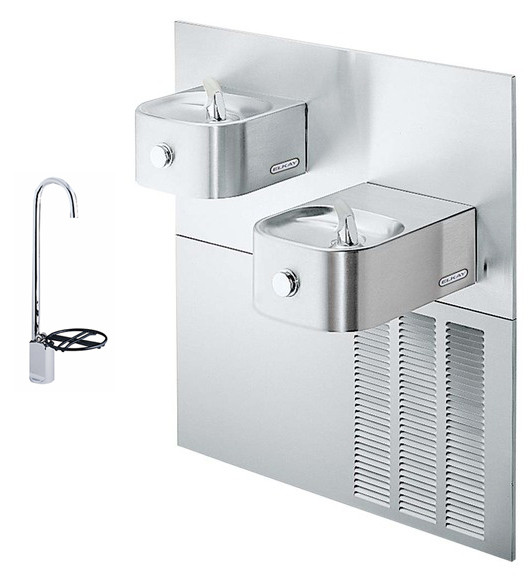 Elkay ERFPM28FK In-Wall Dual Drinking Fountain with Glass Filler