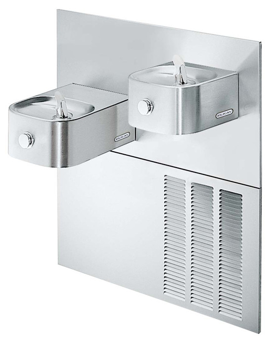 Elkay ERFPMVR28RAK In-Wall Dual Drinking Fountain with Vandal-Resistant Bubbler