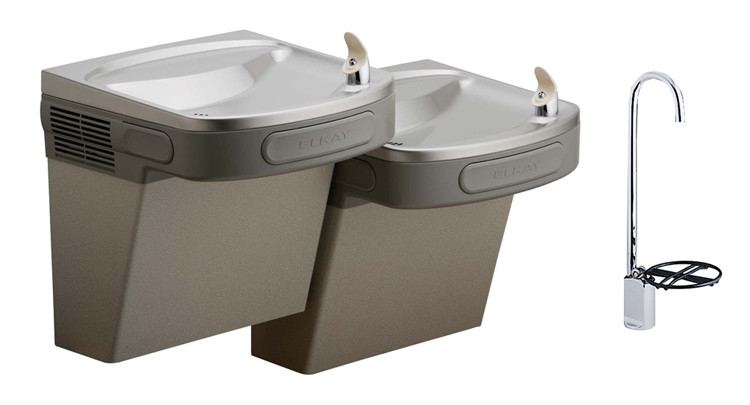 Elkay EZSTLDDLFC Bi-Level Drinking Fountain w/ LK1114 Glass Filler