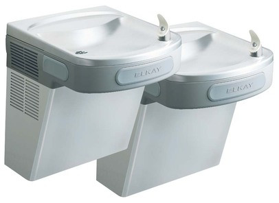 Elkay EZSTLDDSC Stainless Steel NON-REFRIGERATED Dual Drinking Fountain