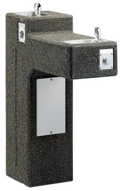Elkay LK4595SFR Two-Station Stone Aggregate Drinking Fountain