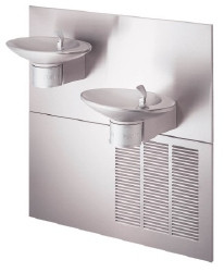Halsey Taylor OVL-II-SER-Q In-Wall Dual NON-REFRIGERATED Drinking Fountain