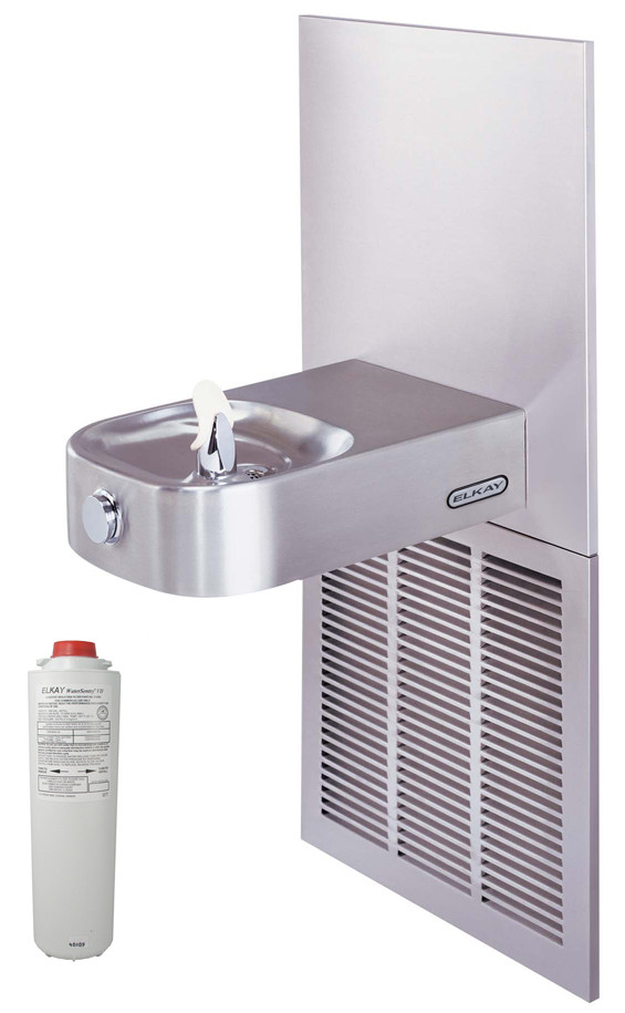 Elkay LCRSPM8K  Filtered In-Wall Drinking Fountain