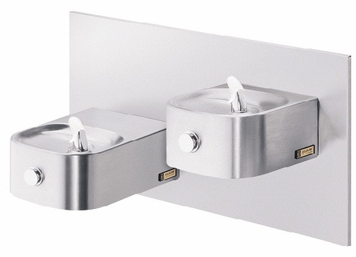 Elkay EDFP217RAC NON-REFRIGERATED In-Wall Dual Drinking Fountain