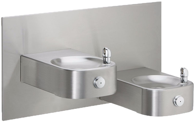 Elkay EHWM217FPK Freeze-Resistan NON-REFRIGERATED Heavy Duty Vandal-Resistant In-Wall Dual Drinking Fountain