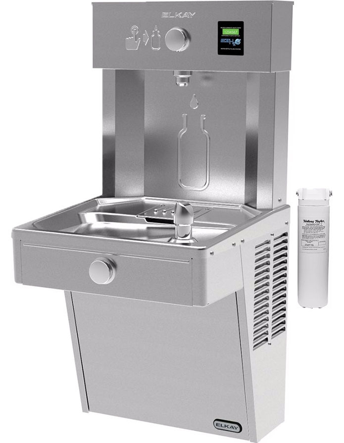 Elkay EZH2O LVRCDWSK Filtered Vandal-Resistant NON-REFRIGERATED Drinking Fountain with Bottle Filler