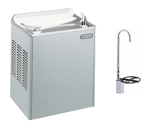 Elkay EWCA8SF1Z Stainless Steel Drinking Fountain with Glass Filler