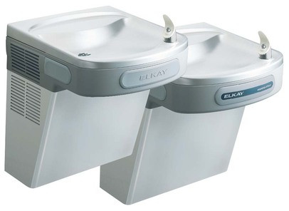 Elkay LZOSTL8SC Filtered Stainless Steel Sensor-Operated Dual Drinking Fountain