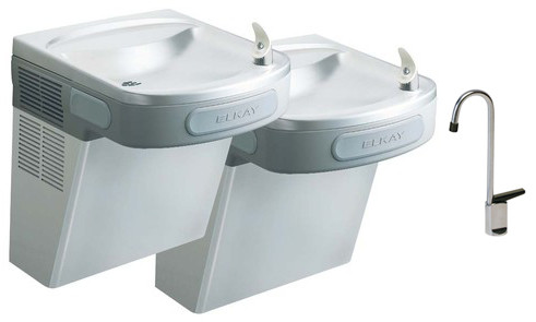 Elkay EZSTL8SFC Stainless Steel Dual Drinking Fountain with Glass Filler