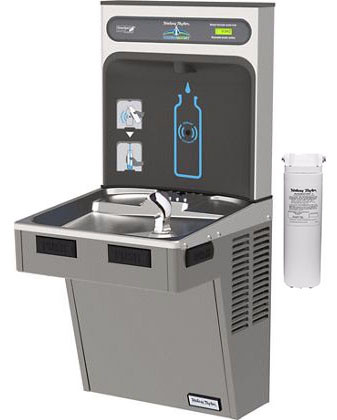 Halsey Taylor HydroBoost HTHB-HAC8WF-PV Filtered Drinking Fountain with Bottle Filler