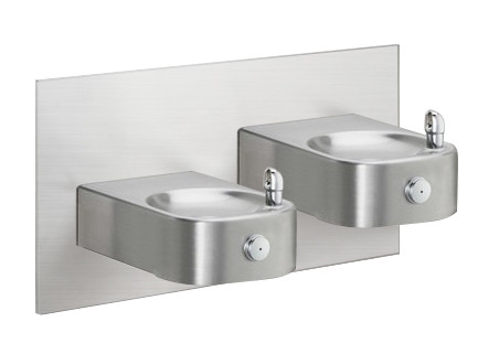 Elkay EHW217FPRAK Freeze Resistant, Non-Refrigerated Heavy Duty Vandal-Resistant In-Wall Dual Drinking Fountain