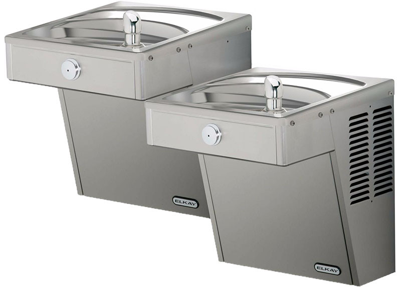 Elkay VRCTLDDSC Bi-Level Drinking Fountain